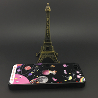 Hot Sale PC Hard Liquid Floating Case For Girl UV Print Pink Case For Iphone 5/6/6plus
