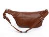 2015 hot sale PU leather Waist Bag brown lightweight running waist bags for Iphone 6