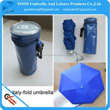 2014 5 fold PVC bag can umbrella