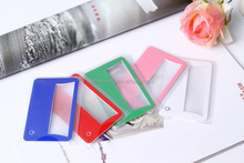 2015 Cheap wholesale pocket magnifying glass with uv light stand for promotion gift