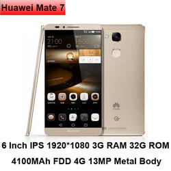 6 inch 3G 32G 4100mAh 4G LTE Smartphone Huawei Mate 7