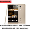 Original Huawei Ascend Mate 7 6 inch Cell Phone 1920x1080 3G 32G Octa Core 4100mAh 4G LTE Smartphone Huawei Mate7 Mobile Phone