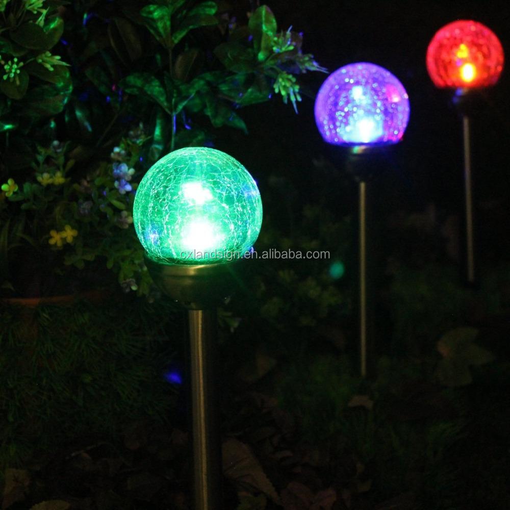 light buy led solar glass ball light bright outdoor led light solar. Black Bedroom Furniture Sets. Home Design Ideas