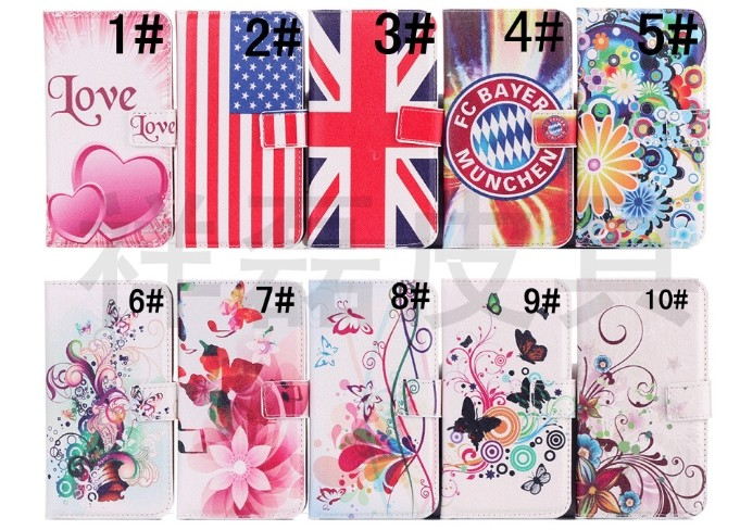 Flower Print PU Leather Cell Phone Case For Samsung Galaxy S5