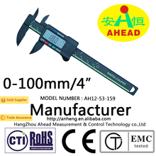 0-100MM/4'' high quality of plastic vernier caliper, digital caliper, waterproof caliper
