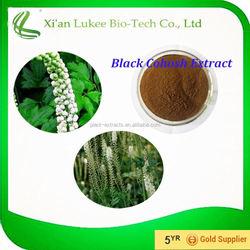 100% Natural Pure Black Cohosh Extract 5%,8% Cimicifuga Racemosa Powder