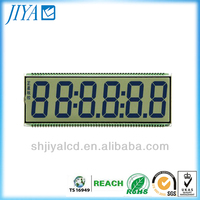 custom 7 segment 6-digit lcd display