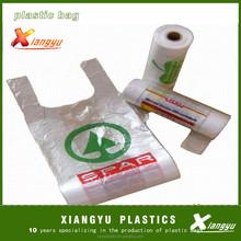 Vest carrier handle plastic shoping bag