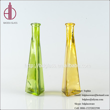 Brand new colored glass pieces for crafts glass cylinder vase made in China