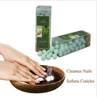 250g New disposable pedicure manicure soak fizzer 3g tablet for nail art design, papaya and green tea fragrance