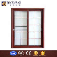 ROGENILAN 80# factory customized french luxury sliding interior frosted glass bathroom door