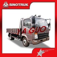 sinotruk howo 4t cargo box van truck