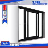 Aluminum glass sliding reception window