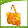 Custom promotional recycle pp laminated non woven bag for shopping