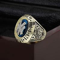 SJ SJMC048 MLB 1998 NEW YORK YANKEES WORLD SERIES Championship Replica Ring with Wooden Box