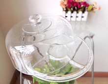 Multifunctional design big transparent glass cake/pie/cheese dome cover with base (glass factory had passed EU,SGS,FDA)