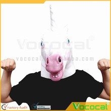 White Rubber Unicorn Cosplay Halloween Mask for Masquerade Carnival Halloween Costume