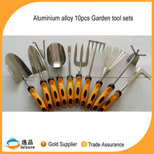 10 pcs Gardening Tools with Aluminium Alloy material 2015 New Design