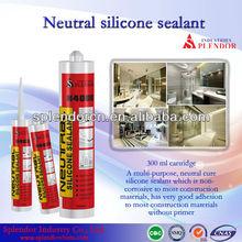 china manufacturer non-toxic glass anti-fungus rtv neutural cure ge silicone sealant SP-1002