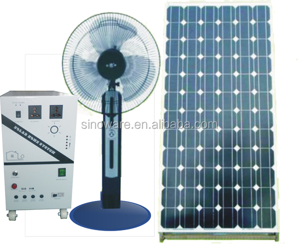 500 W Off grid sistema de iluminação solar para uso doméstico PV gerador solar