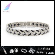 hot selling items black plated steel bracelet live strong bracelet
