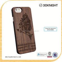 Custom Design Natural Wood Phone Case For Iphone 6 Hard Case