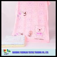 Printed promotional microfiber baby bath towel