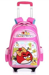 High Quality Lovely Bird Children School Bags Trolley Bags Backpack Travelling Trolley Luggage for Kids Cute Book Bags on Wheels