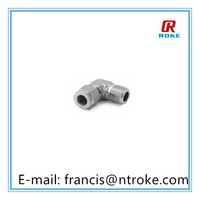 stainless steel 90 degree elbow male connector tube fitting compression fitting OD 16mm to 1/2 NPT