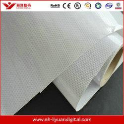 Printable reflective banner / reflective printing materials