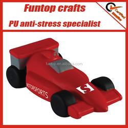 Polyurethane racing car foam toys stress reliever