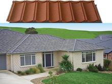 New building material ridge cap stone coated metal roof tile