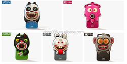 Fancy 3D design monster shock-proof silicone mobile phone protector/ back covers