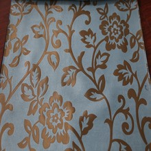 Heavy bedroom 100 polyester blockout curtain fabric for drapery panel