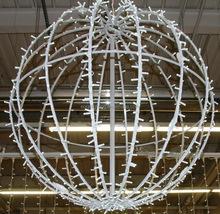 3D Christmas Lighted Outdoor Ball, Led motif 3D ball Hanging decoration lights