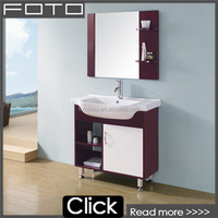 Cheap modern purple solid wood bathroom mirror cabinet furniture with china supplier