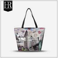 Fashion Zipper Closure Photo Printing New Hand Bag Women 2014