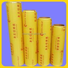 PVC transparent cling film/ for supermarket and hotel use manufacturer