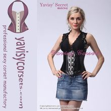 so special sexy and fashion design plain black corset bustier top