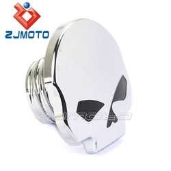 ZJMOTO Skull Aluminum Fuel Reseroir Tank Caps Motorcycle Gas Tank Cover Fit To Harley Custom Chopper