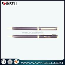 high quality red color metal twist ball pen slim
