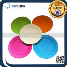 Eco-friendly Bio Bamboo Fiber Dinner Plates Colorful Bamboo Plate