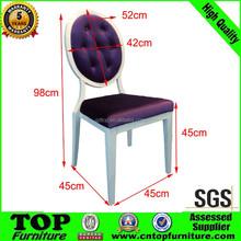 antigo de volta redonda de metal elegante cadeiras de sala de jantar