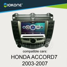 iokone dashboard touch screen car radio dvd multimedia gps for Honda ACCORD 7 2003-2007