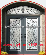 Decorativos de hierro forjado puerta/hierro puertas de doble entrada