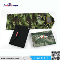 14W Foldable Solar Chargers for laptop and mobile phones with dual output controller military equipment