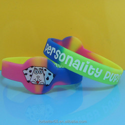 swirl color silicone bands, watch shape silicone bracelets,silk screen printing silicone wristbands
