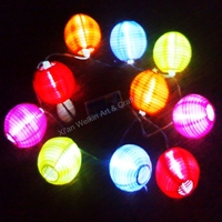 Christmas paper balls led lights battery operated
