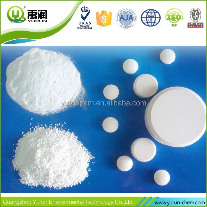 Swimming Pool Chlorine Tablets Granular Powder Trichloroisocyanuric Acid Chlorine Tcca 90