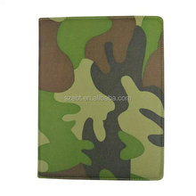 Camouflage printing cotton fabric case, 360 degree rotation stand case for ipad 3,5 and ipad mini